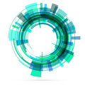 Green tech circle. Raster Royalty Free Stock Photo