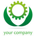 Green Technology Gear Royalty Free Stock Photo