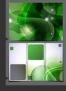Green template for advertising brochure vector illustration eps Royalty Free Stock Photo