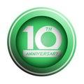 Green10th anniversary icon design