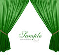 Green theater curtain background Royalty Free Stock Photo