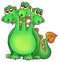 Green three headed dragon Royalty Free Stock Photo