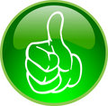 Green thumb up button Stock Photography