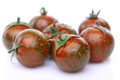 Green tiger tomato is wet Royalty Free Stock Photo