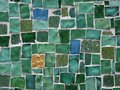 Green tile background Stock Images