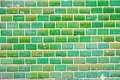 Green tiled wall a background from a Stock Photography