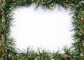 Green tinsel christmas garland Royalty Free Stock Photo