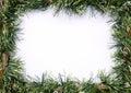 Green tinsel christmas garland Royalty Free Stock Photo