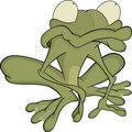 The green toad . Cartoon Royalty Free Stock Images