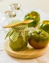 Green tomato chutney Royalty Free Stock Photo