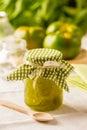 Green tomato jam Royalty Free Stock Photo