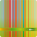 Green tone stripe abstract background Stock Images