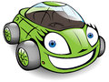 Green toon car Royalty Free Stock Photography