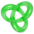 Green Toroidal knot Stock Images
