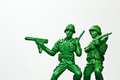 The green toy soldier Stock Image