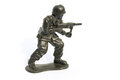 Green Toy soldier Royalty Free Stock Photo