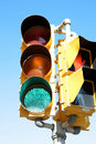 Green traffic light Royalty Free Stock Photography