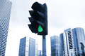 Green traffic light Stock Photography
