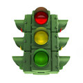 Green traffic light d image of a regulating in the city Royalty Free Stock Photo