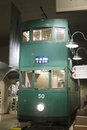 Green tramway bus in hong kong museum of history Stock Images