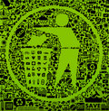 Green trash symbol Royalty Free Stock Photos