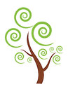 Green Tree icon Stock Photo