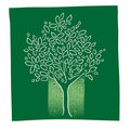 Green tree icon, freehand drawing Royalty Free Stock Photography