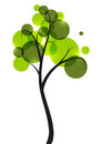 Green tree on white background Royalty Free Stock Photo