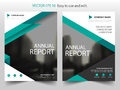 Green Triangle Brochure annual report Leaflet Flyer template design, book cover layout design, abstract business presentation