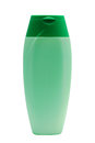 Green tube bottle of shampoo, conditioner, hair rinse, gel isolated Royalty Free Stock Photo