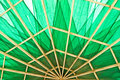 Green umbrella inside view of Stock Photo