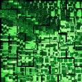 Green urbanism luminous Royalty Free Stock Image