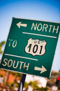 Green us south highway sign a background Royalty Free Stock Image