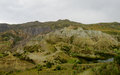 Green valley and rock formations near La Paz in Bolivia Royalty Free Stock Photo