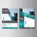Green Vector annual report Leaflet Brochure Flyer template design, book cover layout design, Abstract presentation templates Royalty Free Stock Photo
