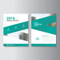 Green Vector annual report Leaflet Brochure Flyer template design, book cover layout design, Abstract red templates set Royalty Free Stock Photo