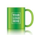 Green vector coffee mug