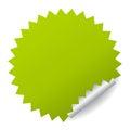 Green vector sticker Royalty Free Stock Photo