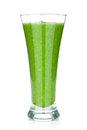 Green vegetable smoothie isolated on white background Royalty Free Stock Photography
