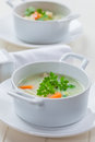 Green vegetable soup with bulgur Royalty Free Stock Photo