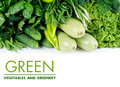 Green vegetables fresh on a white background Stock Photography