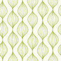 Green vertical ogee seamless pattern background vector with hand drawn elements Stock Images