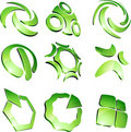 Green vibrant logos. Stock Photo