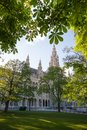 Green Vienna - Rathaus Stock Photo