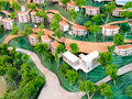 Green village small in d model Stock Photos