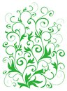 Green vines pattern Royalty Free Stock Image