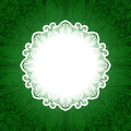 Green vintage floral banner. Vector grass Royalty Free Stock Photo