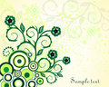 Green vintage floral design Stock Image