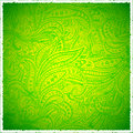Green vintage paisley background Stock Image
