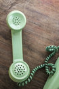 Green vintage telephone Royalty Free Stock Photo
